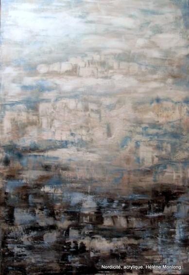 Nordicité,acrylique,Helene Monlong